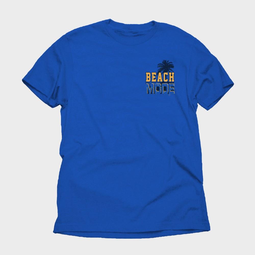 Men's Beach Mode Short Sleeve Graphic T-Shirt - Royal Blue L