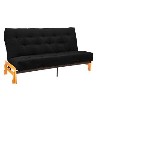 Strange Low Arm 8 Inner Spring Futon Sofa Sleeper Natural Wood Finish Sit N Sleep Theyellowbook Wood Chair Design Ideas Theyellowbookinfo