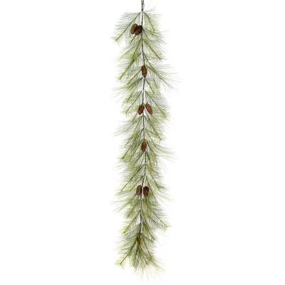 "Vickerman 6' x 13"" Hugo Pine Artificial Christmas Garland, Unlit"