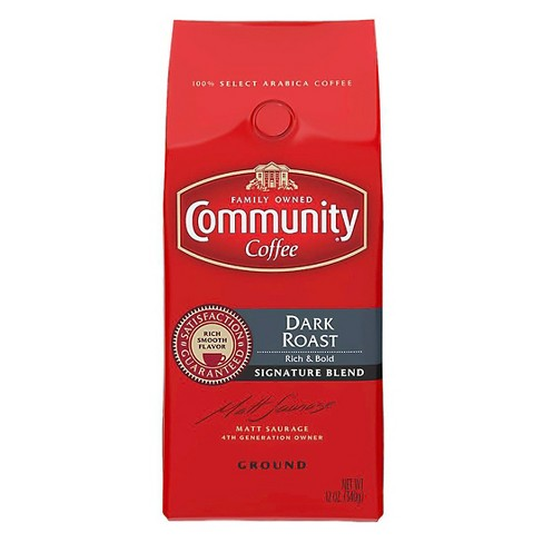 Community Coffee Signature Blend Dark Roast Ground Coffee - 12oz - image 1 of 3