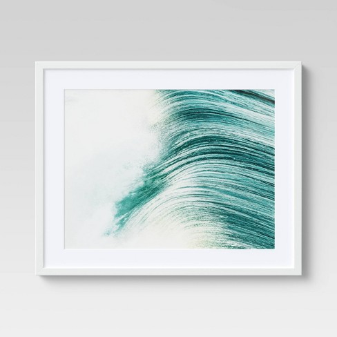 """24"""" x 30"""" Big Wave Framed Wall Art Blue - Project 62™ - image 1 of 4"""