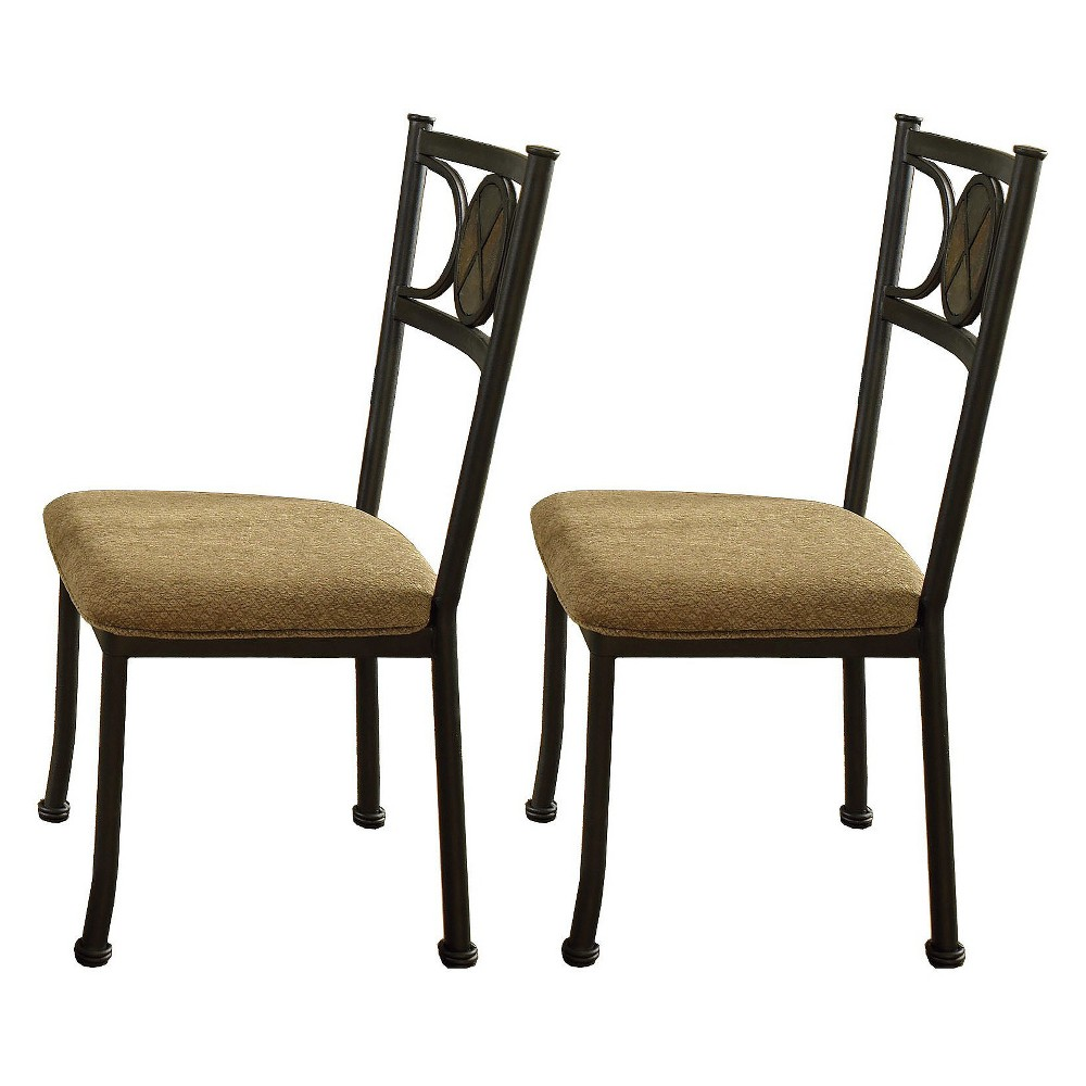 Cora Side Chairs (Set of 4) Black - Steve Silver, Ivory
