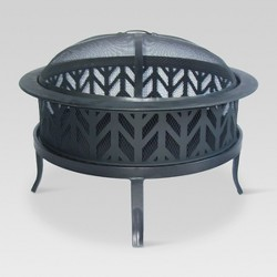 "26"" Wood Burning Fire Pit Arrowcut - Threshold™"