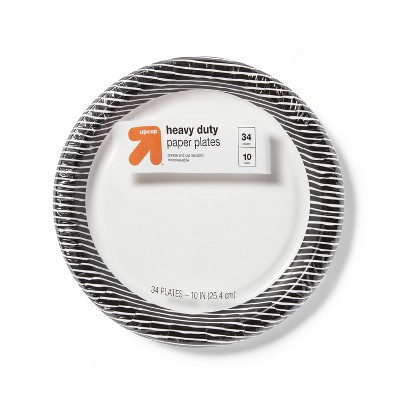 """Disposable Dinnerware Plate - Black & White - 34ct - 10.0"""" - up & up™"""