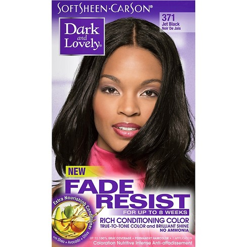 Dark And Lovely Fade Resist Permanent Hair Color 371 Jet Black 1