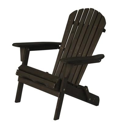 Villaret Wood Adirondack Chair - Dark Brown - Thy Hom