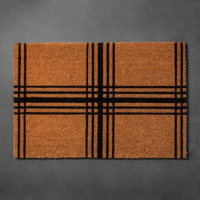 Plaid Coir Estate Doormat (23 x35 )- Hearth & Hand™ with Magnolia