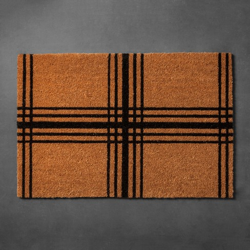 "Plaid Coir Estate Doormat (23""x35"") - Hearth & Hand™ with Magnolia - image 1 of 3"