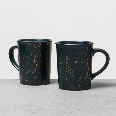 2pk Stoneware Mug Speckled Noble Blue - Hearth & Hand™ with Magnolia