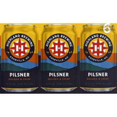 Highland Pilsner Beer - 6pk/12 fl oz Cans