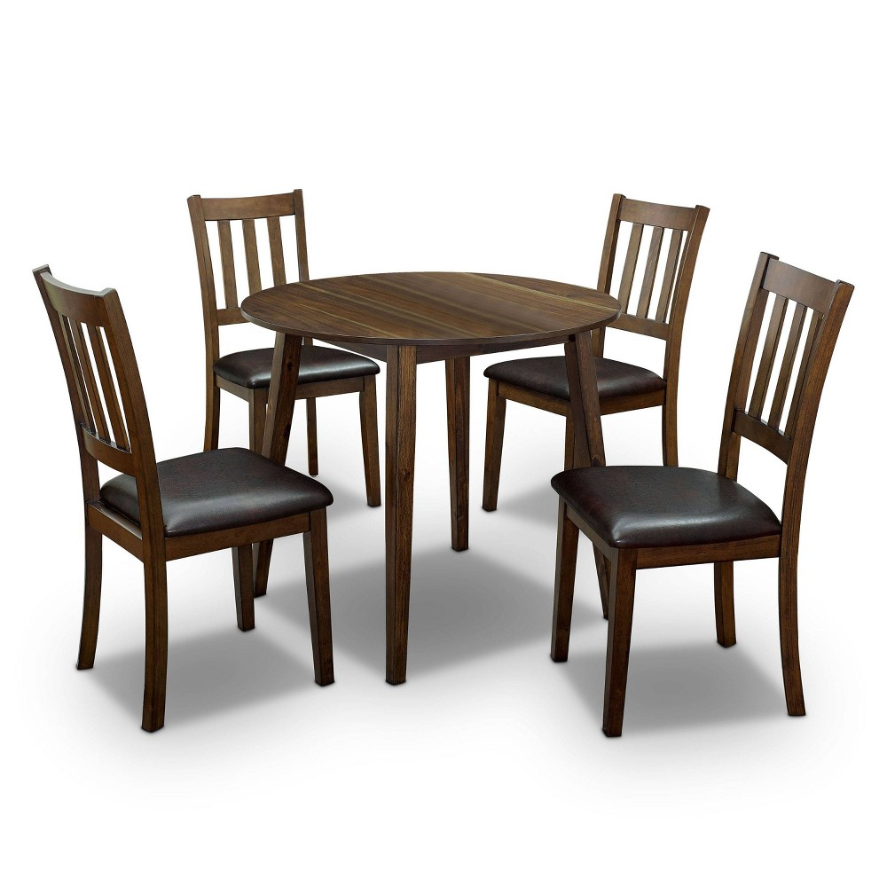 Best 5pc Hedgecrow Padded Seat Round Dining Table Set Dark Brown - HOMES: Inside + Out