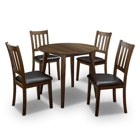5pc Hedgecrow Padded Seat Round Dining Table Set Dark Brown Homes Inside Out Target