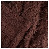"""Brown Solid Fleece Sherpa Backed Throw (50""""X60"""") - Yorkshire Home - image 2 of 3"""