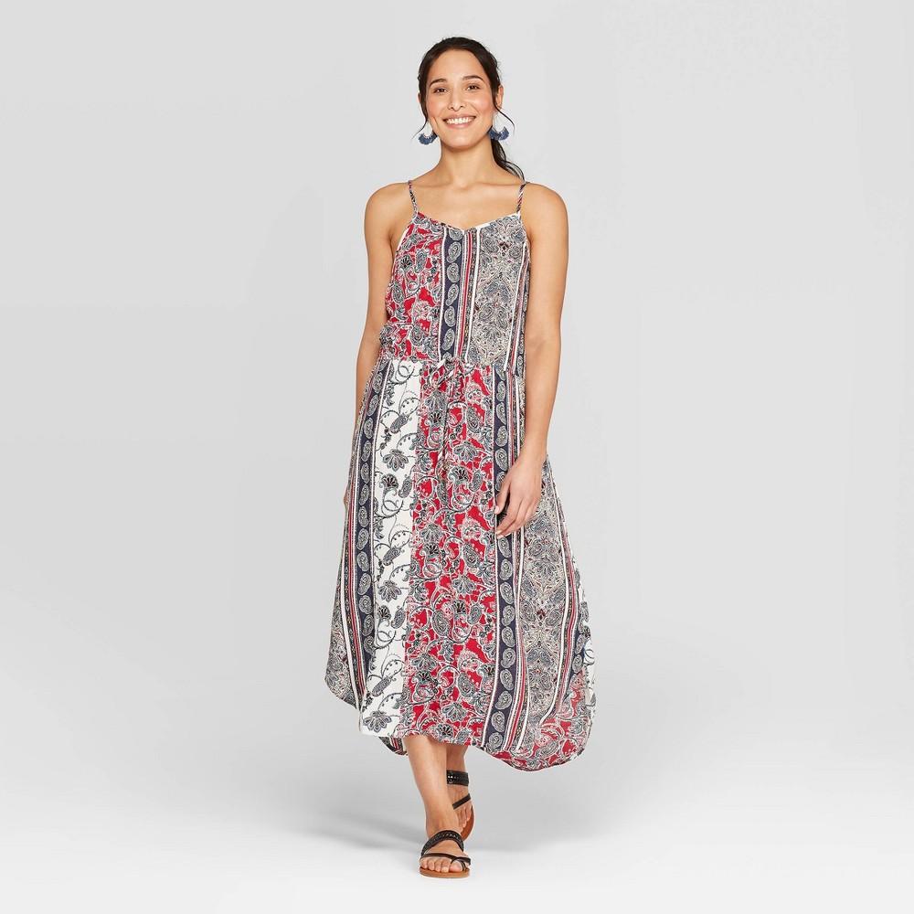 70s Dresses – Disco Dress, Hippie Dress, Wrap Dress Womens Strappy V-Neck Pullover Shift Dress - Knox Rose XS Multicolored $29.99 AT vintagedancer.com