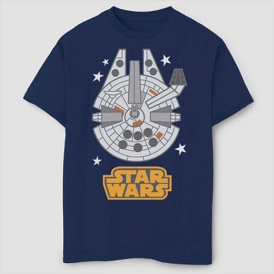 Boys' Star Wars Millennium Falcon Emoji T-Shirt - Navy