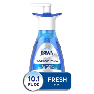 Dawn Platinum Dishwashing Foam, Fresh Rapids Scent - 10.1 fl oz