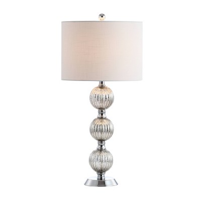 """30.5"""" Glass/Metal Silvered Orbs Table Lamp (Includes LED Light Bulb) - Jonathan Y"""