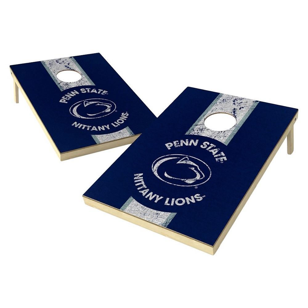 Penn State Nittany Lions Wild Sports 2' x 3' Heritage Design Tailgate Toss Platinum Cornhole Set