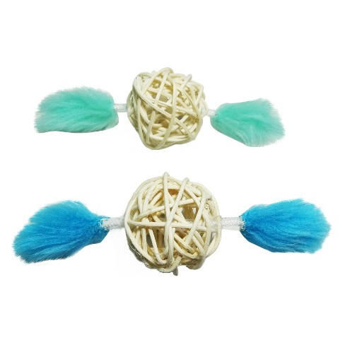 Wicker Pet Toy Set - Blue - 2pk - Boots & Barkley™ - image 1 of 1