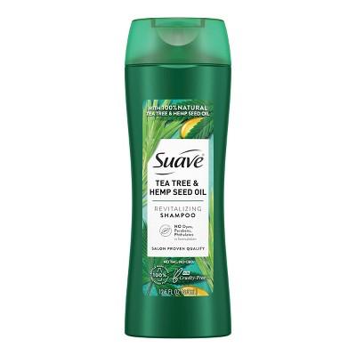 Suave Natural Tea Tree & Hemp Seed Oil Revitalizing Shampoo - 12.6 fl oz