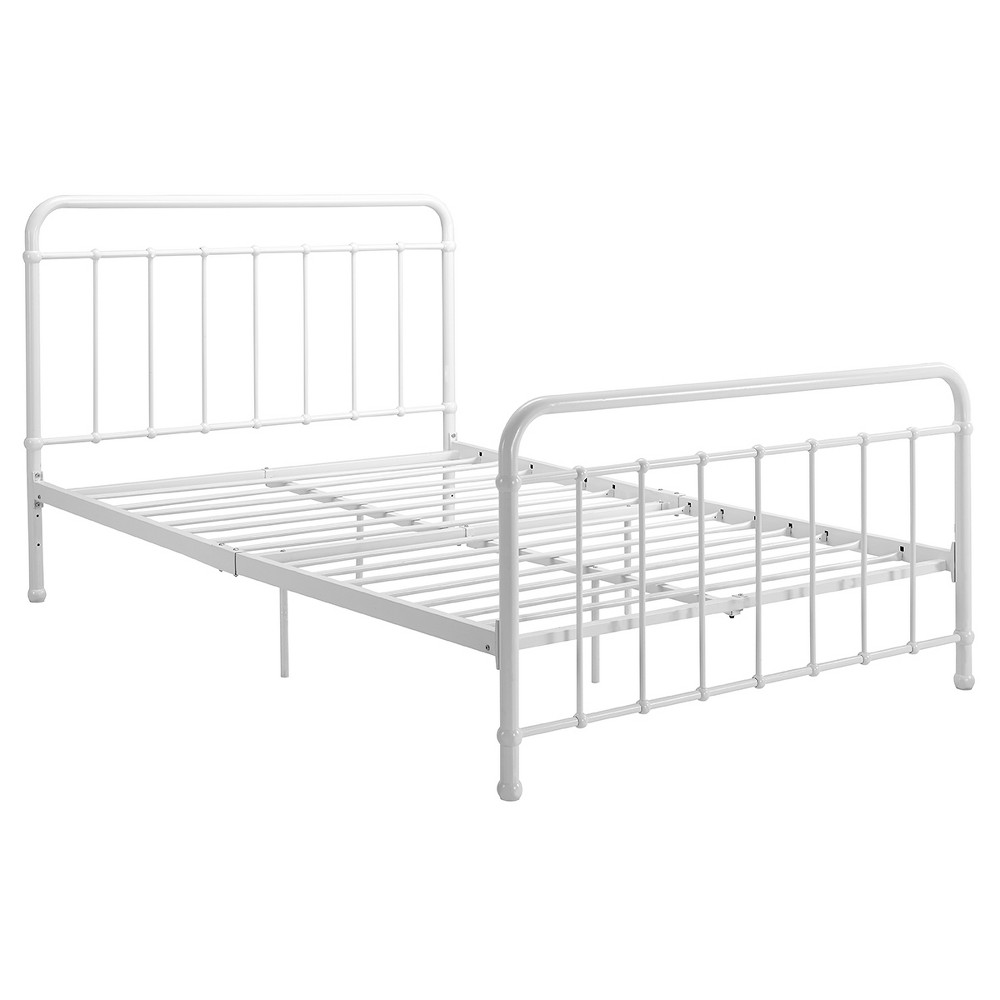 Image of Brooklyn Iron Bed - Full - White - Dorel Home Products