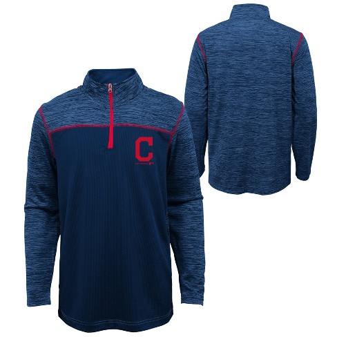 MLB Cleveland Indians Boys' In the Game 1/4 Zip Sweatshirt - image 1 of 3
