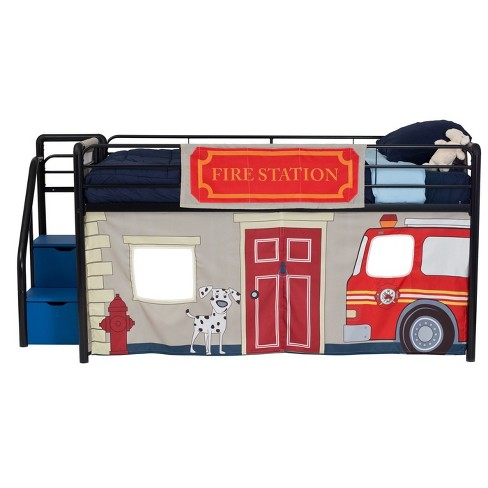 Twin Fire Department Bunk Bed Curtain Set - Dorel Home Products - image 1 of 4