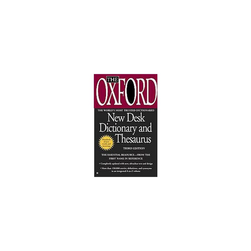 Oxford New Desk Dictionary and Thesaurus (Reissue) (Paperback)