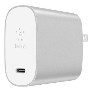 Belkin BOOSTUP Power Delivery 18W USB-C Wall Charger (with USB-C to Lightning Cable) - Silver