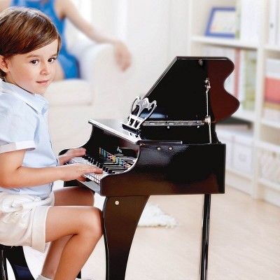 Hape Toys Early Melodies Black Wooden Happy Grand Piano for Toddlers & Children