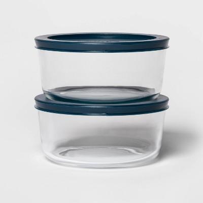 4 Cup 2pk Round Food Storage Container Set Navy - Room Essentials™