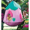 Cozy Posy Hugglepod Hangout Kids Hanging Chair With Crescent Stand - Hearthsong - image 2 of 2