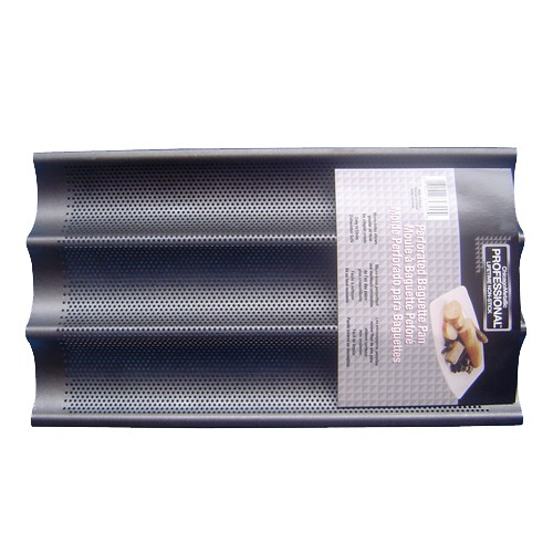 'Chicago Metallic Perforated Baguette Pan 16 x 9'' Aluminized Steel'