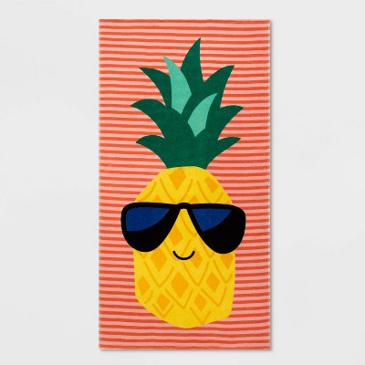 Pineapple Beach Towel Orange - Sun Squad™