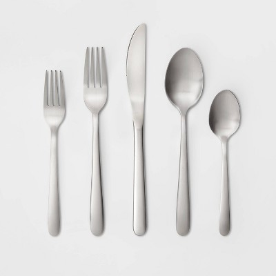20pc Stainless Steel Matte Finish Silverware Set - Made By Design™