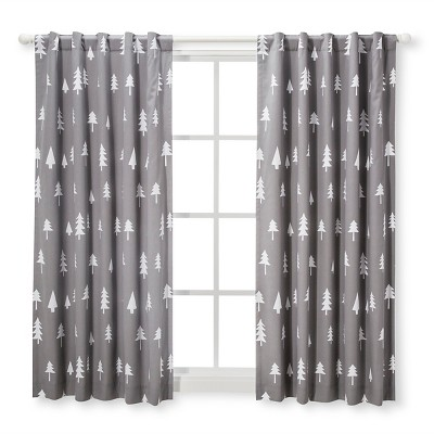Blackout Curtain Panel Trees (42  x 84 )- Cloud Island™ Gray