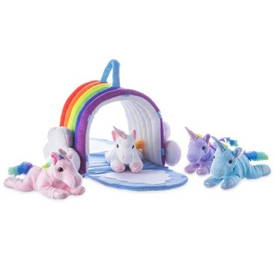 Magic Cabin - Plush Unicorn Rainbow Play Set for Kids