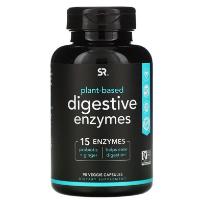 Sports Research Digestive Enzymes, Plant-Based, 90 Veggie Capsules, Dietary Supplements