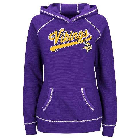 sports shoes 7a59c b2ea5 Minnesota Vikings Women's Fleece Pullover Hoodie Sweatshirt L