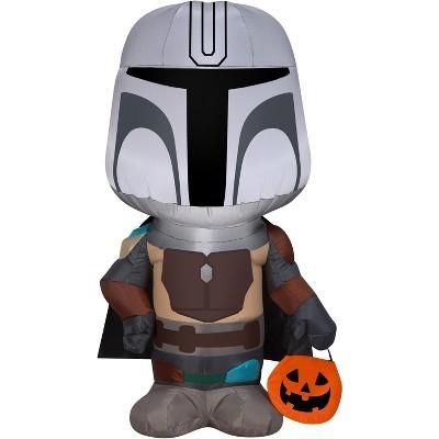 Gemmy Airblown Halloween The Mandalorian Star Wars, 3.5 ft Tall, black