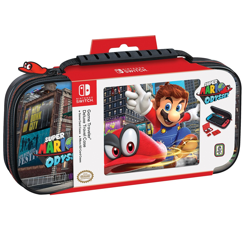 Nintendo Switch Game Traveler Super Mario Odyssey Deluxe Travel Case, Multi-Colored Deluxe Travel Case with Super Mario Odyssey image Color: Multi-Colored. Pattern: Fictitious character.