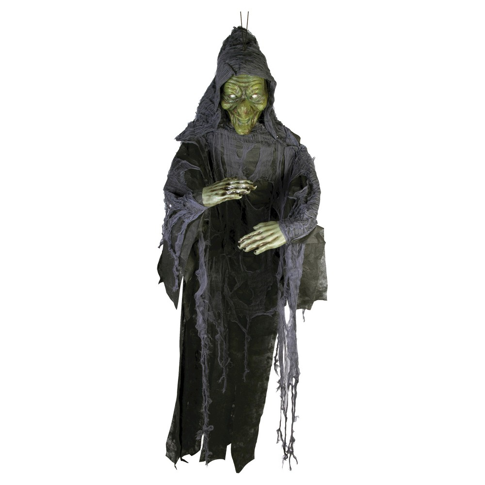 Image of 6 ft. Halloween Witch Poly Foam Decor, Black