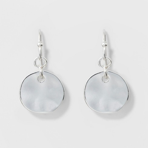 Disc Earrings A New Day Silver