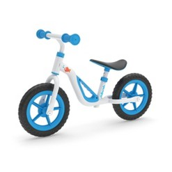 "Chillafish Charlie 10"" Kid's Balance Bike - Blue, Kids Unisex, White Blue"
