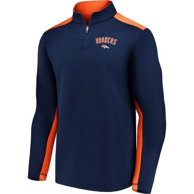 NFL Denver Broncos Men's 1/4 Zip Fleece Sweatshirt