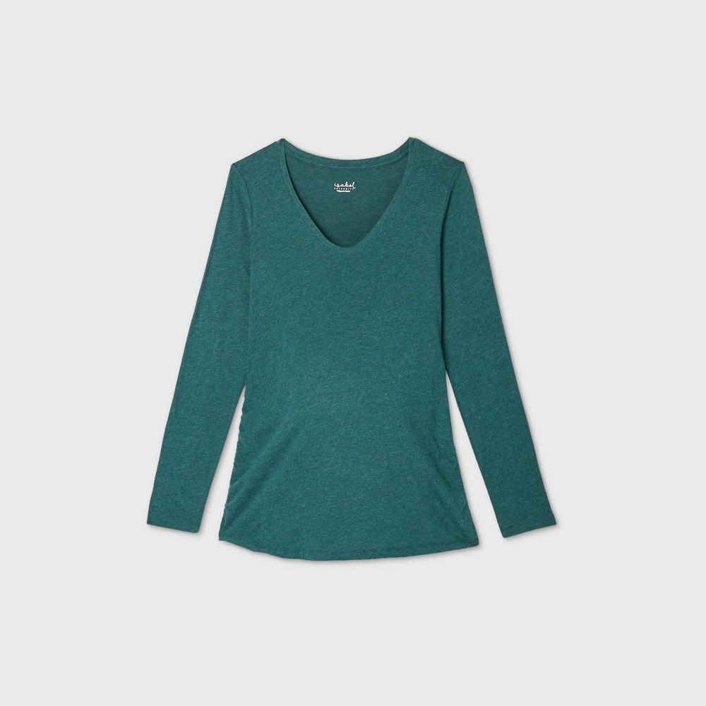 Discounts Maternity Long leeve ide hirred coop Neck T-hirt - Iabel Maternity by Ingrid & Iabel™