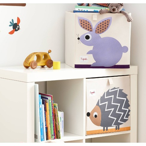 Hedgehog Fabric Cube Toy Storage Bin 3 Sprouts