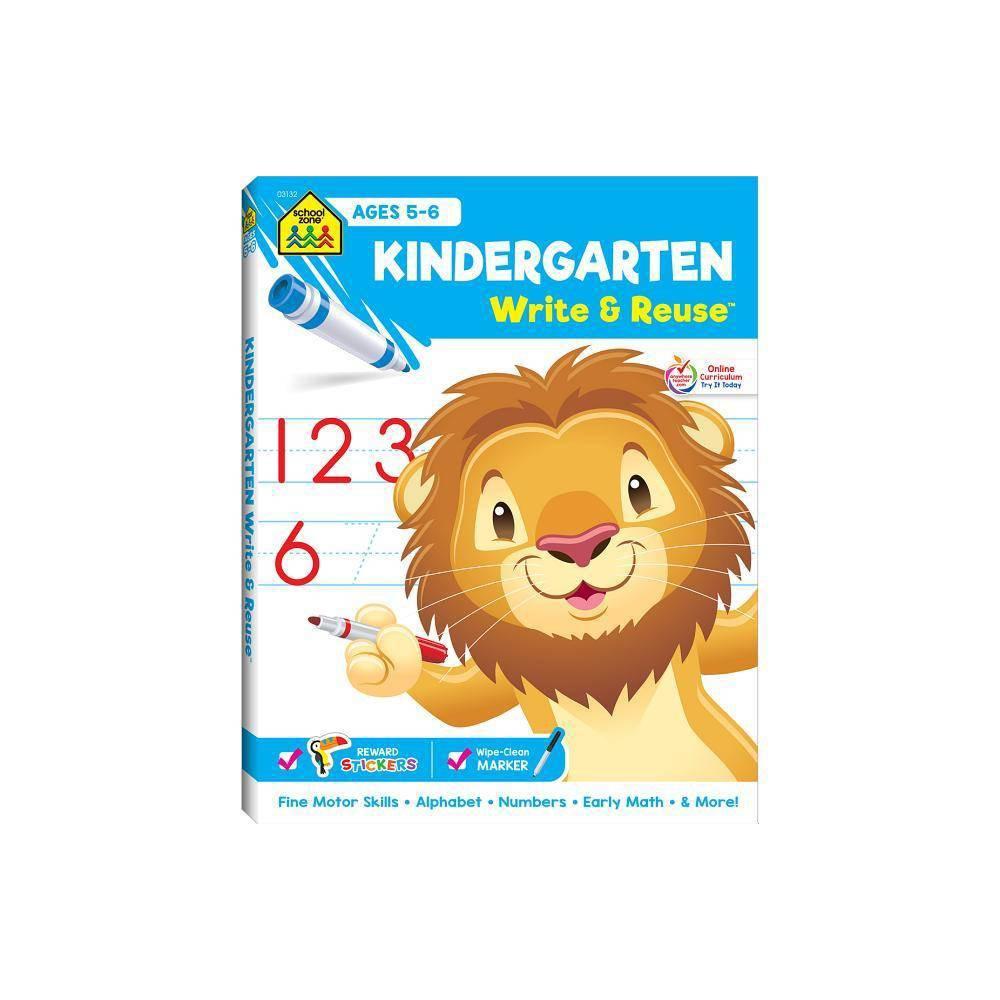 Kindergarten Ages 5 6 Write Reuse Spiral Binder Spiral Bound