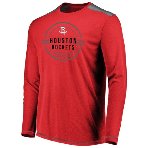 san francisco 1eb2e 0f282 NBA Houston Rockets Men's All Pride Long Sleeve Geo Fuse Shooting Top M