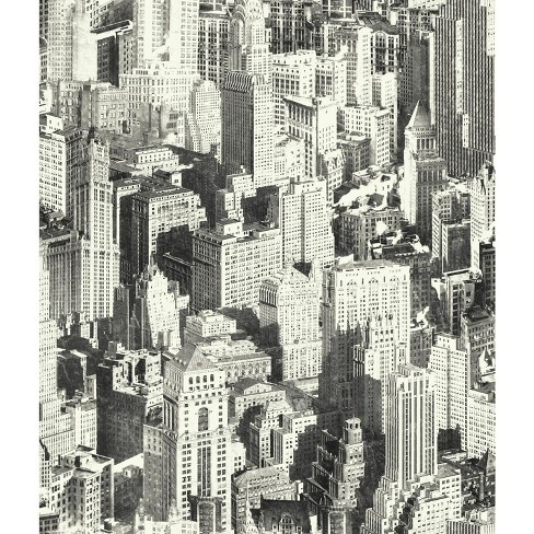 new york city peel stick wallpaper black roommates